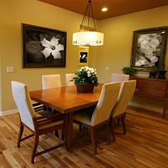 Dining Room Decorating Ideas - Pictures of Dining Room Decor - Good Housekeeping   Love this chandelier!