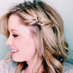 Put those fishtail braiding skills to work on your bangs, too!