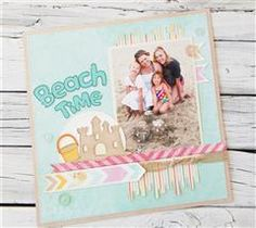 Remember fun family times at the beach with this easy layout!