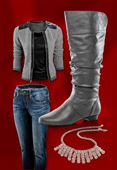 #ShoeCarnival  Soda Women's Casual Slouchy Flat Boots at Shoe Carnival