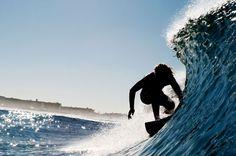 Beautiful vibrant ocean colours versus the surfers dark silhouette. Brilliant! Photo by Morgan Maassen