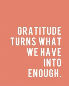 Giving Gratitude