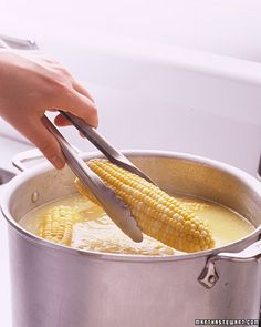 When butter is added to water it floats to top, perfectly buttering each ear of corn as it is removed.    WHAAAAAA????  Awesome!