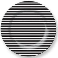 striped melamine plate