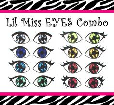 Printed Fabric Eyes for Cloth Dolls - Iron, Sew, Glue On - Special 8 pair Combo Pack LilMissDolls