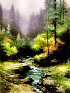 Creekside Trail by Thomas Kinkade