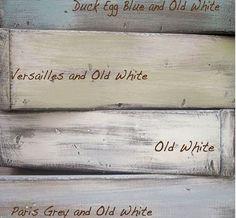 annie sloan chalk paint colours