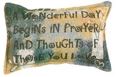 In Prayer Decorative Tapestry Pillow