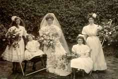 Unidentified wedding party, early 1900s.