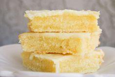 "Bakergirl: Cakey Lemon Bar ""Brownies."""
