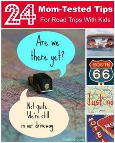 Smart Travel: 24 Mom-Tested Tips for Road Trips With Kids. Pack a bag for each DAY (not each person), plus a toiletries bag, and a snack bag. Individual lap trays from Walmart 5 bucks. Aluminum foil crafts en route. Audiobooks.