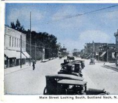 Main Street Looking South, Scotland Neck, N. Car. :: North Carolina Postcards