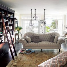 Club Sofa, I love this look!! From Arhaus, now to convince hubby!!