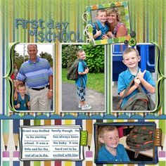 Back to School Digital Scrapbooking Layout from Creative Memories http://www.creativememories.com