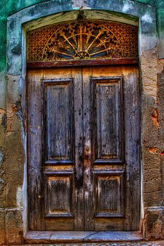 Old Door With Scrollwork