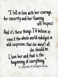 F. Scott. Fitzgerald ladies and gentlemen. Easily saying what the Doctor couldn't.