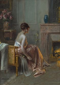 Delphin Enjolras  French Academic Painter - late 19th century