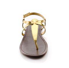 Gold sandal.