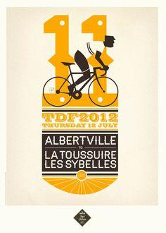 Tour de France 2012 Prints by Neil Stevens, via #Behance #Design #Posters