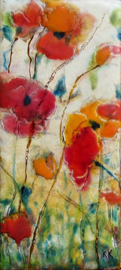 Encaustic Art Original Encaustic Painting PRIORITY by KLynnsArt