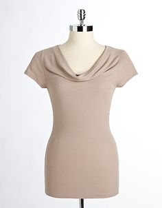 neck top, drape neck, cap sleev, sleev drape