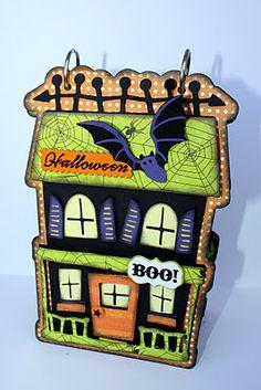 halloween mini, faith, haunted houses, mini albums, card