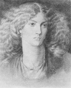 "Head of a Woman, called ""Ruth Herbert"" by Dante Gabriel Rossetti (1828-1882)"