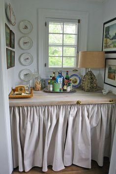 decor, skirt, interior, wet bar, detail