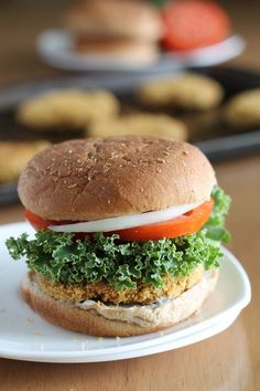 Chickpea Burgers     |      Save and organize your favourite recipes on your iPhone and iPad with @RecipeTin! Find out more www.recipetinapp.com    #recipes #vegan #burgers