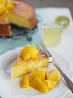 Coconut Lime Cake with Mango