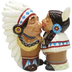 Westland Giftware Mwah Magnetic Native American Couple Salt and Pepper Shaker Set, 3-1/2-Inch by Westland Giftware. $11.99. Material: ceramic. Magnetic insert to keep shakers together. Functional. High quality. Fun and cute styling. Westland Giftware Mwah, Magnetic Native American Couple Salt and Pepper Shaker Set, 3-1/2-inch. These shakers have a magnetic insert to keep them together.