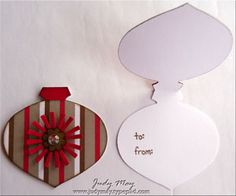Ornament gift tag -
