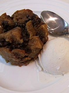 Espresso Chip Bread Pudding - get your caffeine after the fast in the most delicious way!