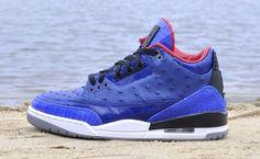 """Air Jordan 3 """"Blue Ostrich"""" Custom"""