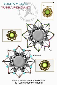 Ewa beading world!: Yusra pattern pendant / pendant pattern Yusra