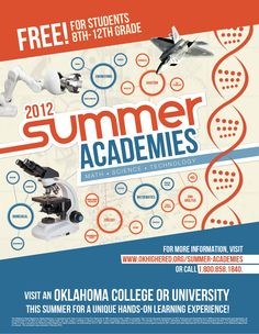 "A Rigo Design Poster designed for Oklahoma State Regents for Higher Education, ""Summer Academies"""