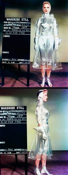Anne Francis costume test for Forbidden Planet (1956)