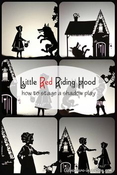 Shadow Puppets: Little Red Riding Hood and More - what a fun way to work with stories