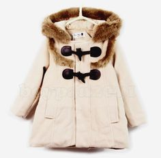 New Kids Toddlers Girls Fashion Winter Coat Snowsuits With Hooded Sz 1-6Y | eBay