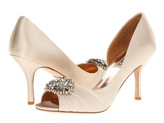 Badgley Mischka Pearson Vanilla Satin - Zappos.com Free Shipping BOTH Ways