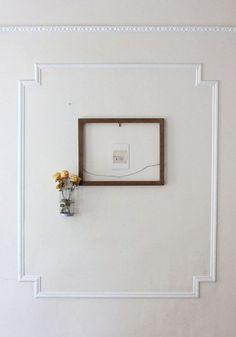 framed wall.