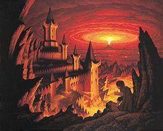 Tolkien Calendar Nov 1977 Cirith Ungol, Brothers Hildebrandt