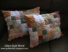 Square Yo-Yo Pillowcase (Better pattern: http://pinterest.com/pin/230739180881091633/ )