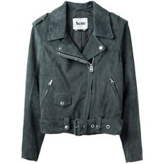 Acne Mape Suede Motocycle Jacket ($700) ❤ liked on Polyvore