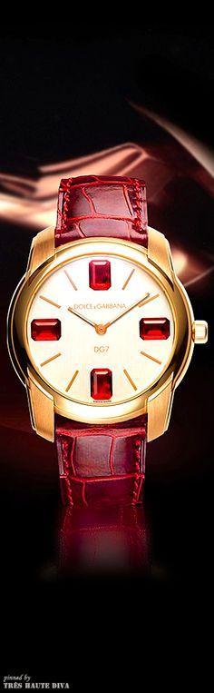 Dolce &Gabbana 7GEMS watch 7gem watch, gabbana 7gem, dolce gabbana jewelry, red hot, dolc gabbana