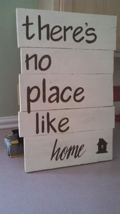 "Handcrafted, Wooden Pallet Sign, ""There's no place like home"""