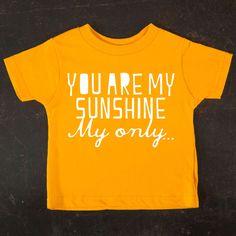 Sunshine Toddler Tee Gold