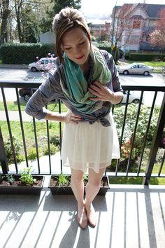 Chambray Top and Skirt Combo