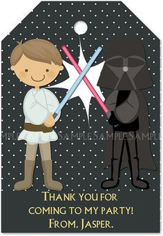 Star Wars Party - Thank you notes