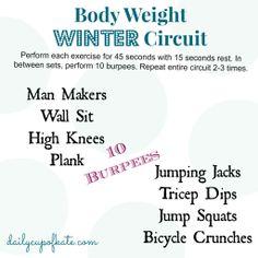 Body Weight Winter Circuit